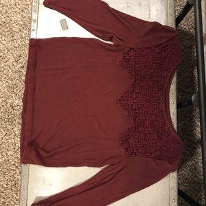 3/4 Maroon Shirt